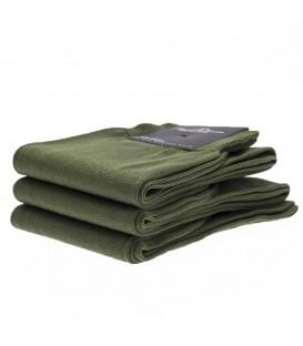 Chaussettes Fil d'Ecosse uni vert olive