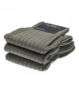 Chaussettes Fil d'Ecosse avec cotes gris clair