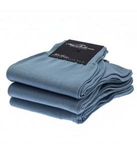 chaussettes homme en fil d'Ecosse lisse uni bleu ciel sur Magic Socks