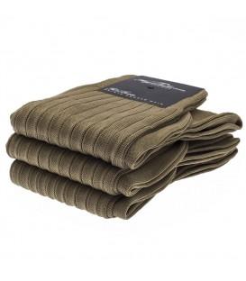 Chaussettes Fil d'Ecosse avec cotes marron clair