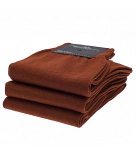 Chaussettes Fil d'Ecosse uni orange rouille