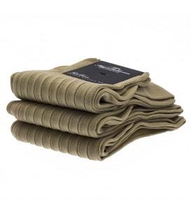 Chaussettes Fil d'Ecosse avec cotes beige