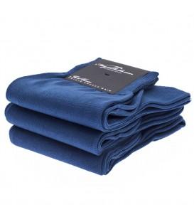 Chaussettes Fil d'Ecosse lisse uni bleu roi