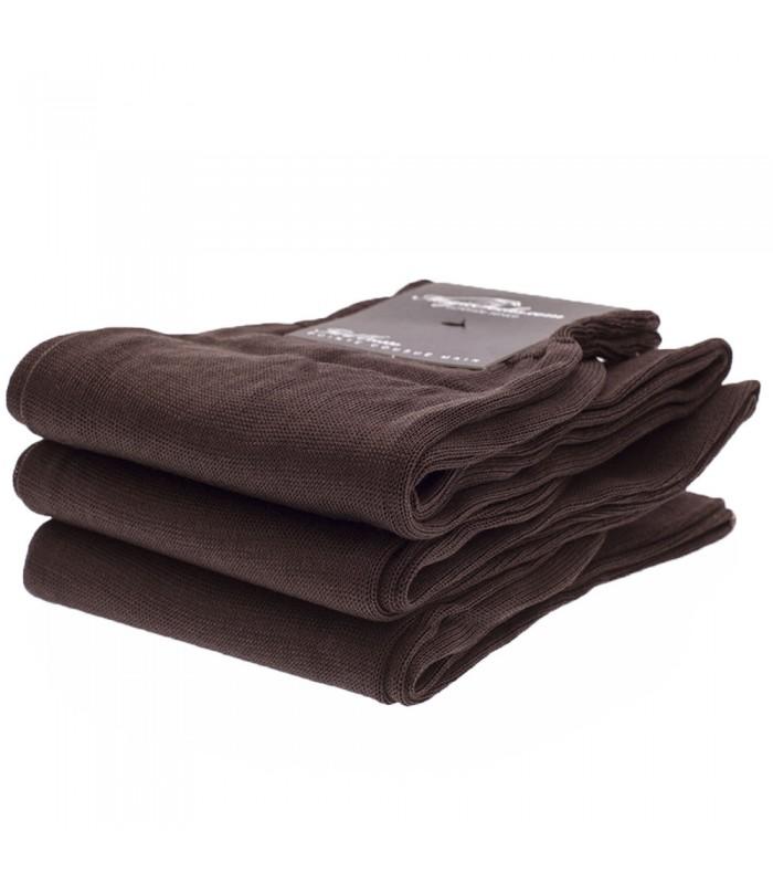 chaussettes homme en fil d ecosse uni marron sur magic socks. Black Bedroom Furniture Sets. Home Design Ideas