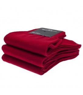 Chaussettes Fil d'Ecosse uni rouge