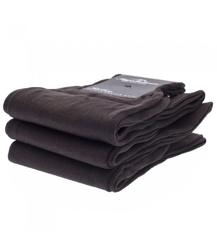 chaussettes homme en fil d ecosse uni marron fonc sur magic socks. Black Bedroom Furniture Sets. Home Design Ideas