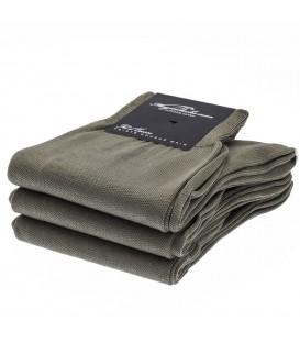 Chaussettes Fil d'Ecosse lisse uni gris clair